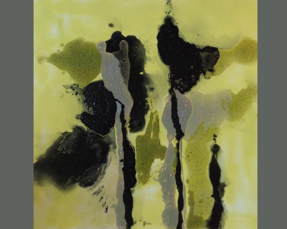 bena,noir!...et apres , serie 3, sans titre 16, 80 x 80 cm, technique mixte