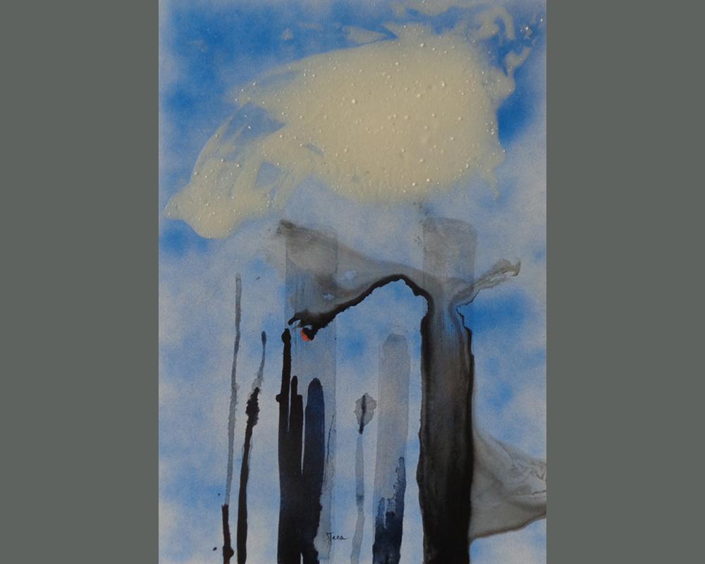 bena , Noir !...et apres, serie 3, sans titre 37, 50 x 70 cm, technique mixte sur chassis