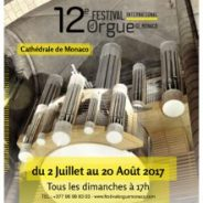 Prochaine performance : 20 août 2017, festival international d'orgue de Monaco