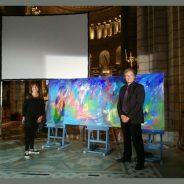 Performance artistique Thierry Escaich et Bena le 20 août 2017 à la cathédrale de Monaco