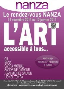 affiche expo boutique NANZA, l'art accessible à tous