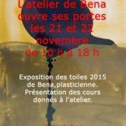 Portes ouvertes à l'atelier le 21 et 22 novembre 2015
