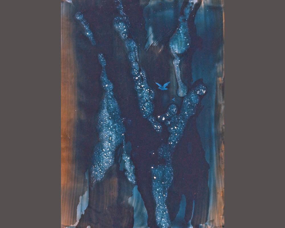 bena serie profondeur lumiere et transparence n 4 technique mixte 50x70 cm bena 016