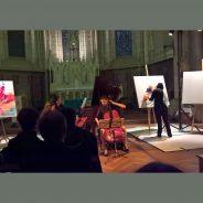 Retour en sons et images sur le concert et l'improvisation picturale du 16 mai à Tours
